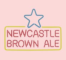NEWCASTLE BROWN ALE T SHIRT FLOURESCENT NEON SIGN One Piece - Long Sleeve