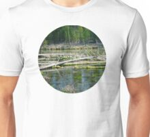 Fall River in Shades of Green Unisex T-Shirt