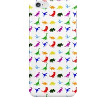 Colourful Dinosaurs Pattern iPhone Case/Skin