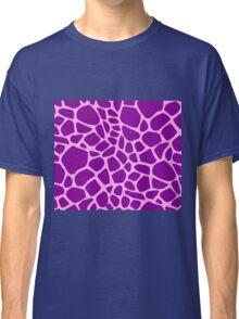 Giraffe pattern (pink and purple) Classic T-Shirt