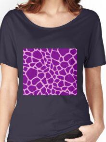 Giraffe pattern (pink and purple) Women's Relaxed Fit T-Shirt