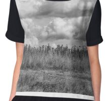 Clouds over field Chiffon Top