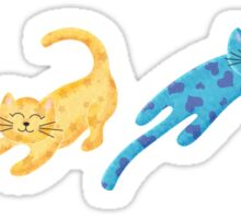 Playful Kittens Pattern Sticker