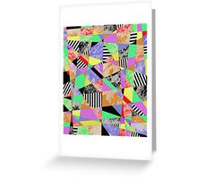 Pop Art Fragments - Abstract Greeting Card
