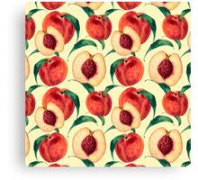Watercolor peaches Canvas Print