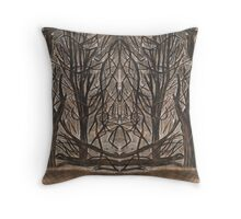 Mirror landscape Throw Pillow