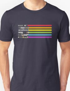 Lightsaber Rainbow Unisex T-Shirt