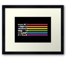 Lightsaber Rainbow Framed Print