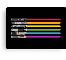 Lightsaber Rainbow Canvas Print