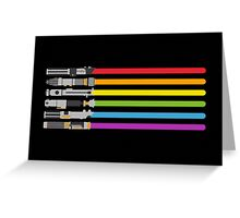 Lightsaber Rainbow Greeting Card