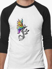 Butterfly Swirl Men's Baseball ¾ T-Shirt
