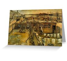 'Workshop' by Vincent Van Gogh (Reproduction) Greeting Card