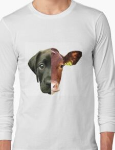 Animal Equality- dog and cow (sorry for the bad quality) Long Sleeve T-Shirt