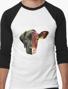 Animal Equality- dog and cow (sorry for the bad quality) Men's Baseball ¾ T-Shirt