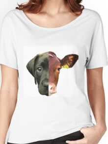 Animal Equality- dog and cow (sorry for the bad quality) Women's Relaxed Fit T-Shirt