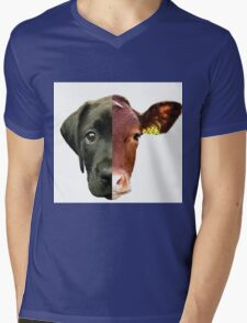 Animal Equality- dog and cow (sorry for the bad quality) Mens V-Neck T-Shirt