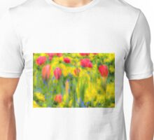 English Summer Flowers Pastel Unisex T-Shirt