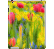 English Summer Flowers Pastel iPad Case/Skin