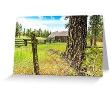 Old Barn in California Greeting Card