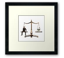 Animal Equality- Scale Framed Print