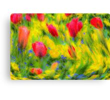 Pastel Summer Flowers  Canvas Print