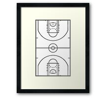 Basketball Court Framed Print