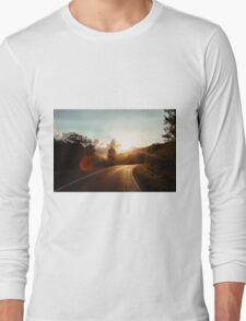 Road at sunset Long Sleeve T-Shirt