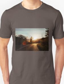 Road at sunset Unisex T-Shirt