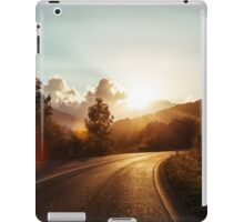 Road at sunset iPad Case/Skin