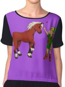 Young Link and Baby Epona Chiffon Top