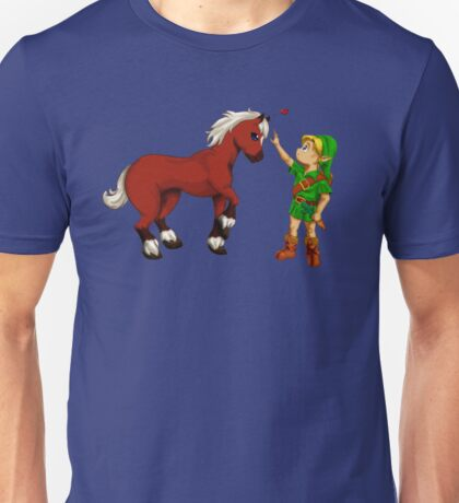 Young Link and Baby Epona Unisex T-Shirt