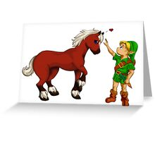 Young Link and Baby Epona Greeting Card