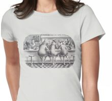 Lithograph - The Three Graces - by Julia Rogers Womens Fitted T-Shirt