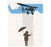 Girl in Plane Rain Photographic Print