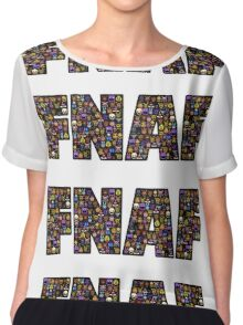 Five Nights at Freddys - Pixel art - FNAF typography (Black BG) Chiffon Top