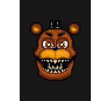 Adventure Nightmare Freddy - FNAF World - Pixel Art Photographic Print