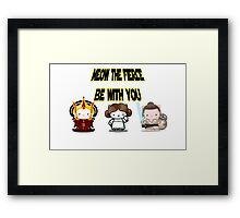 Meow The Fierce Be With You Framed Print