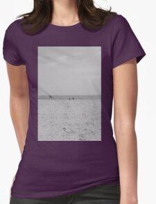Coney Island Beach Womens Fitted T-Shirt
