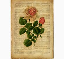 Botanical print, on old book page - flowers - roses Unisex T-Shirt