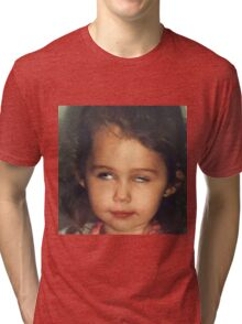 Miley Cyrus as a Baby Tri-blend T-Shirt