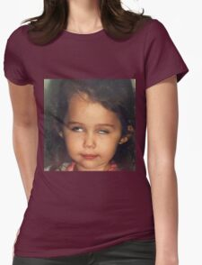 Miley Cyrus as a Baby Womens Fitted T-Shirt