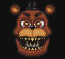 Adventure Nightmare Freddy - FNAF World - Pixel Art Kids Tee