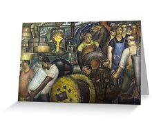 Hard Labor - Charles Wells Mural - The New Deal Greeting Card
