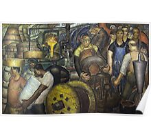 Hard Labor - Charles Wells Mural - The New Deal Poster