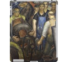 Hard Labor - Charles Wells Mural - The New Deal iPad Case/Skin