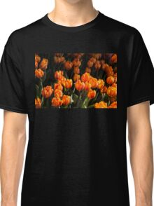 Flame Colored Tulips - Enjoying the Beauty of Spring Classic T-Shirt