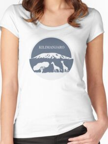 Kilimanjaro (Blue) Women's Fitted Scoop T-Shirt