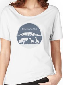 Kilimanjaro (Blue) Women's Relaxed Fit T-Shirt