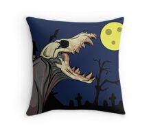 Skull Monster Throw Pillow