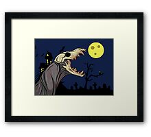 Skull Monster Framed Print